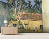 Farmyard at Auvers, c.1879-80 (oil on canvas) wall mural living room preview