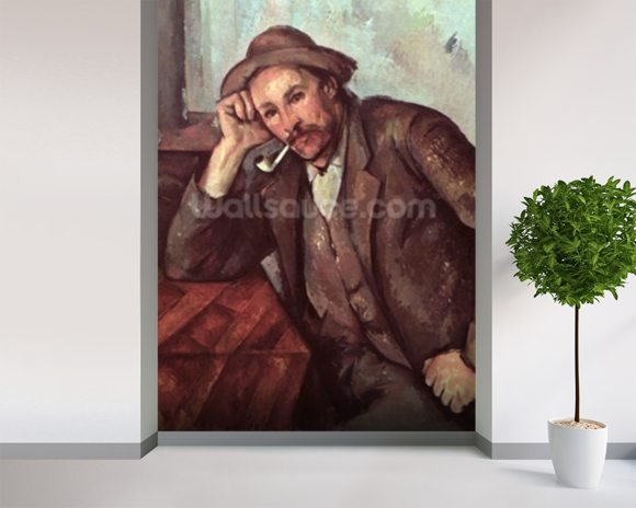 The Smoker, 1891-92 (oil on canvas) wallpaper mural room setting