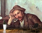 The Smoker, 1891-92 (oil on canvas) wallpaper mural kitchen preview