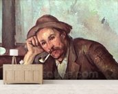 The Smoker, 1891-92 (oil on canvas) wallpaper mural living room preview