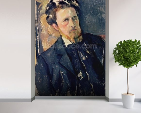 Portrait of Joachim Gasquet (1873-1921) 1896-97 (oil on canvas) mural wallpaper room setting