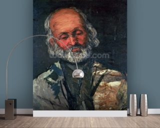 Head of an Old Man, c.1866 (oil on canvas) wall mural