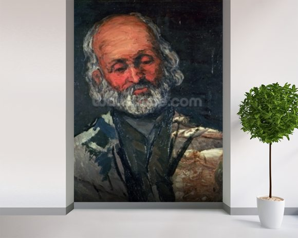 Head of an Old Man, c.1866 (oil on canvas) wall mural room setting