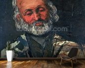 Head of an Old Man, c.1866 (oil on canvas) wall mural kitchen preview
