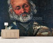 Head of an Old Man, c.1866 (oil on canvas) wall mural living room preview