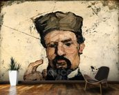 Uncle Dominique as a Lawyer, 1866 (oil on canvas) wallpaper mural kitchen preview