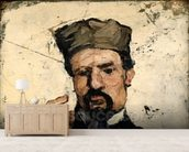 Uncle Dominique as a Lawyer, 1866 (oil on canvas) wallpaper mural living room preview