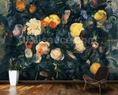 Vase of Flowers, 19th (oil on canvas) mural wallpaper kitchen preview
