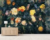 Vase of Flowers, 19th (oil on canvas) mural wallpaper living room preview