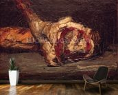 Still Life of a Leg of Mutton and Bread, 1865 (oil on canvas) wall mural kitchen preview
