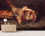Still Life of a Leg of Mutton and Bread, 1865 (oil on canvas) wall mural living room preview