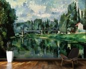 The Banks of the Marne at Creteil, c.1888 (oil on canvas) wallpaper mural kitchen preview