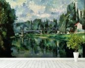 The Banks of the Marne at Creteil, c.1888 (oil on canvas) wallpaper mural in-room view