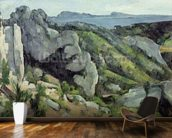 Rocks at LEstaque, 1879-82 (oil on canvas) wallpaper mural kitchen preview