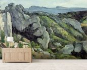 Rocks at LEstaque, 1879-82 (oil on canvas) wallpaper mural living room preview