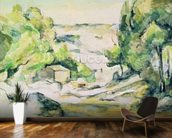 Countryside in Provence (w/c on paper) wallpaper mural kitchen preview