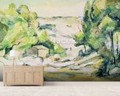 Countryside in Provence (w/c on paper) wallpaper mural living room preview