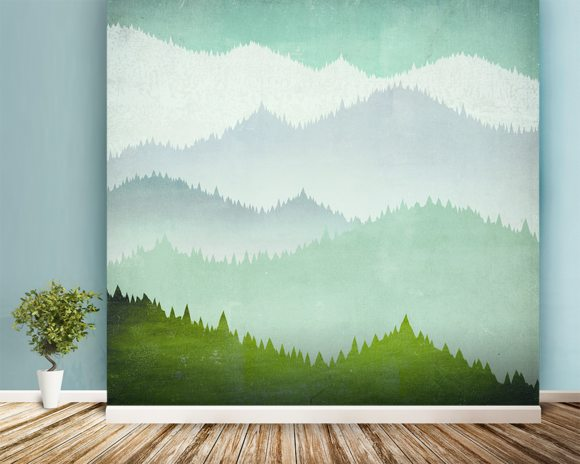First Snow wallpaper mural room setting
