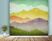 Mountain View mural wallpaper in-room view