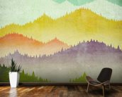 Mountain View mural wallpaper kitchen preview