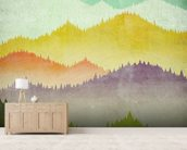 Mountain View mural wallpaper living room preview