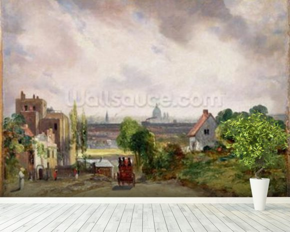 Sir Richard Steeles Cottage, Hampstead, c.1832 (oil on canvas) wall mural room setting