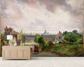 Sir Richard Steeles Cottage, Hampstead, c.1832 (oil on canvas) wall mural living room preview