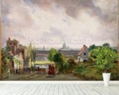 Sir Richard Steeles Cottage, Hampstead, c.1832 (oil on canvas) wall mural in-room view