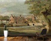 Flatford Mill (oil on panel) mural wallpaper kitchen preview
