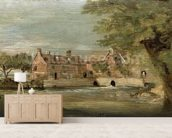 Flatford Mill (oil on panel) mural wallpaper living room preview