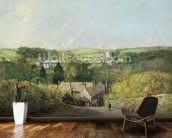 A View of Osmington Village with the Church and Vicarage, 1816 (oil on canvas) mural wallpaper kitchen preview