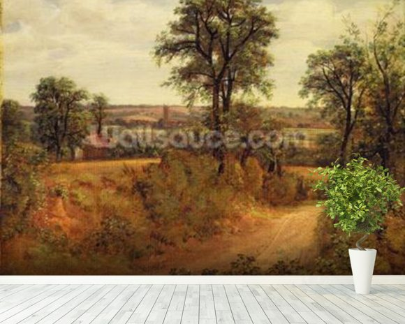 A Lane near Dedham, c.1802 (oil on canvas) wall mural room setting