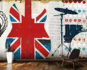 British Invasion II mural wallpaper kitchen preview