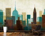 Summer in the City II wall mural kitchen preview