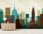 Summer in the City II wall mural living room preview