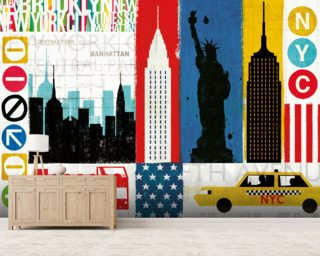 New York City Experience mural wallpaper