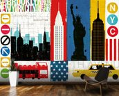 New York City Experience mural wallpaper kitchen preview