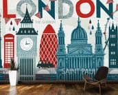Hello London wall mural kitchen preview