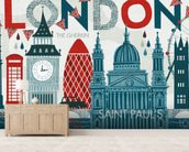 Hello London wall mural living room preview
