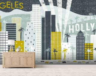 Hey Los Angeles wallpaper mural