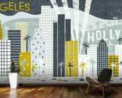 Hey Los Angeles wallpaper mural kitchen preview