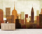 Summer in the City I wall mural living room preview