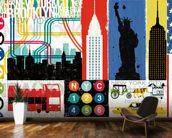 New York City Life IV mural wallpaper kitchen preview