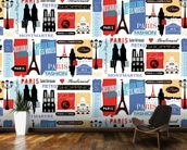 Paris Life Pattern wall mural kitchen preview