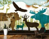 Dweller Collage II mural wallpaper kitchen preview