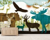 Dweller Collage II mural wallpaper living room preview