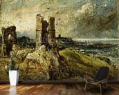Sketch of Hadleigh Castle (recto) (oil on millboard) wall mural kitchen preview