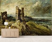 Sketch of Hadleigh Castle (recto) (oil on millboard) wall mural living room preview