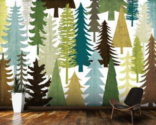 Woodland Trees Wallpaper Wall Murals
