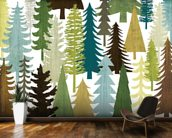 Woodland Trees wallpaper mural kitchen preview